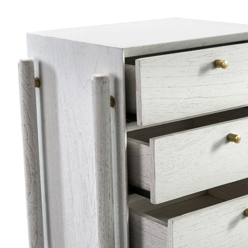 Chiffonnier 5 tiroirs 60x40x110 Bois Blanc - image 51796
