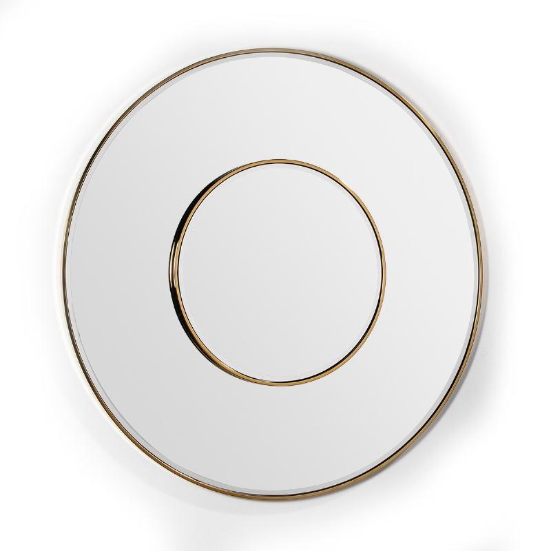 Mirror 120X4X120 Glass Metal Golden