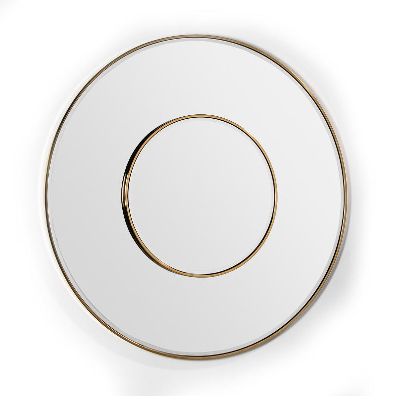 Specchio 120X4X120 Vetro Metallo Dorato