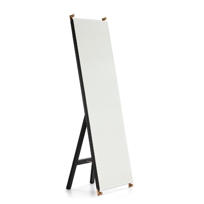 Mirror 60X5X180 Glass Mdf Black Metal Golden Black