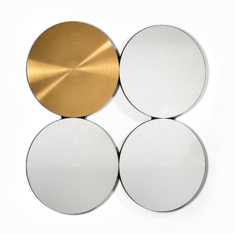 Spiegel 100X3X100 Glas/Metall Golden - image 51881