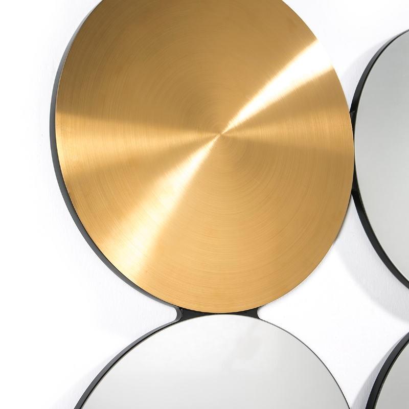 Spiegel 100X3X100 Glas/Metall Golden - image 51882