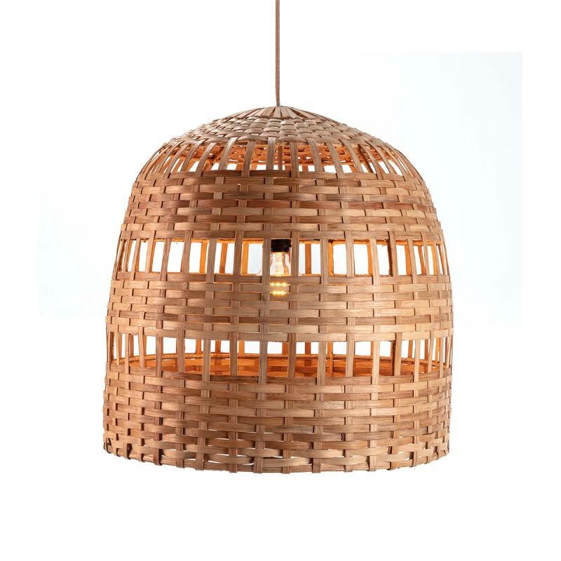 Lampe suspendue 60x60x60 Osier Naturel - image 51915