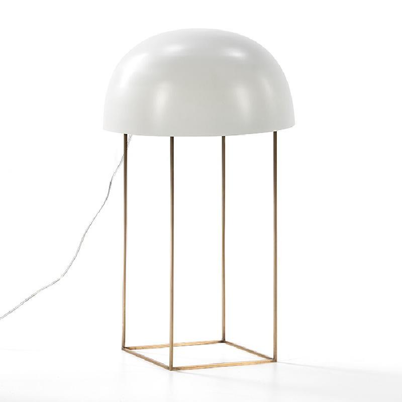 Lampe de Table 20x33x70 Métal Doré Blanc - image 51940