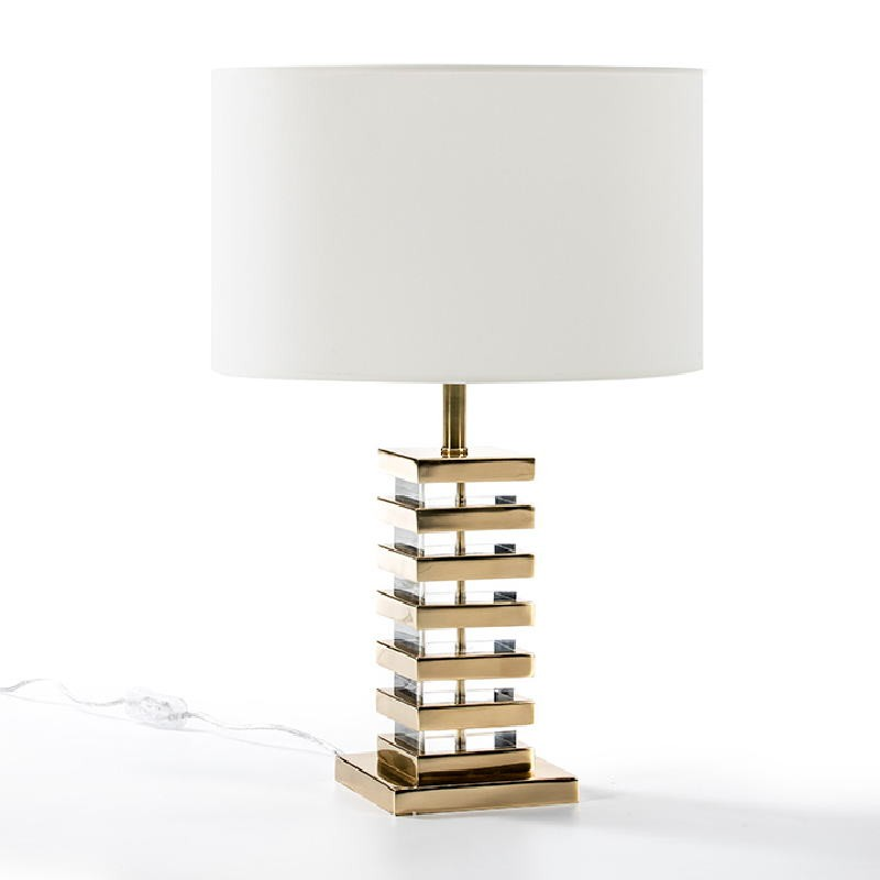 Table Lamp Without Lampshade 15X15X41 Acrylic Metal Golden - image 51946