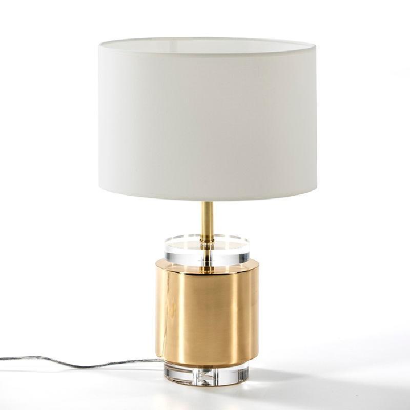 Lampe de Table sans abat-jour 14x33 Acrylique Métal Doré - image 51950