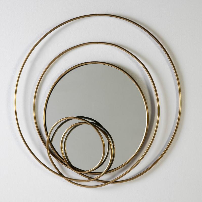 Mirror 80X7X80 Glass Metal Golden - image 51975