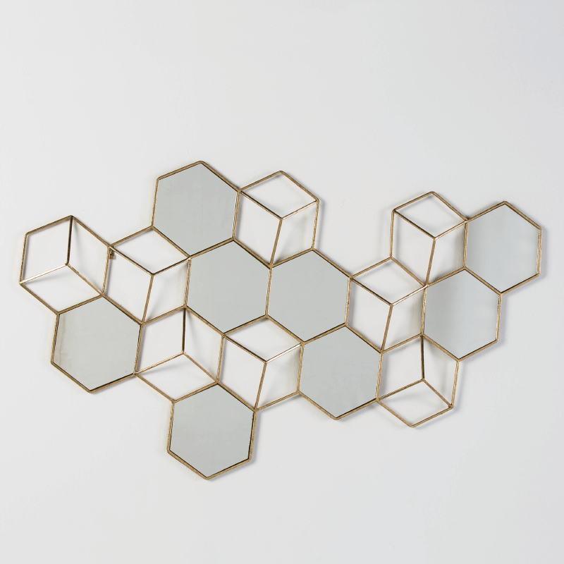Skulptur 130X5X73 Spiegel/Metall Golden - image 51993