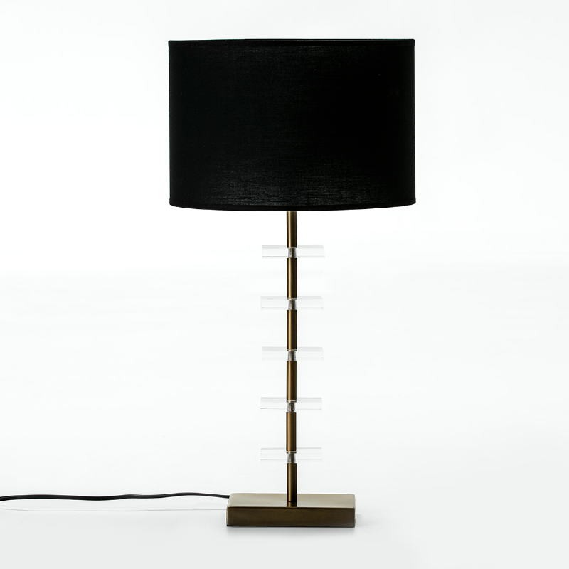Table Lamp Without Lampshade 15X11X43 Metal Golden Acrylic Transparent - image 52017