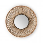 Mirror 50X8X50 Glass Wicker Natural