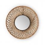 Specchio 50X8X50 Vetro Vimini Naturale