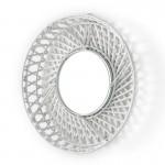 Spiegel 50X8X50 Glas/Wicker Weiß