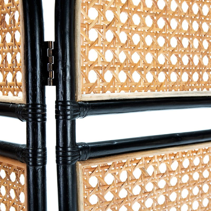 Folding Screen 140X3X178 Wicker Natural Black - image 52054