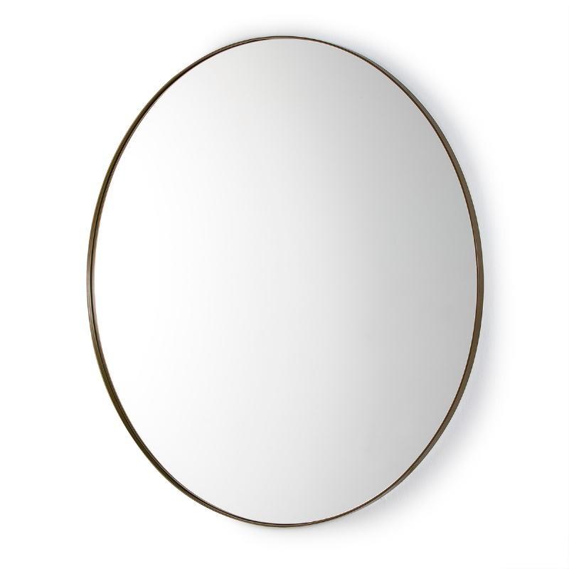 Mirror 120X3X120 Glass Metal Golden