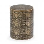 Stool 33X33X45 Ceramic Golden Black