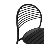 Chaise 47x55x81 Métal Noir Cuir synthétique Noir