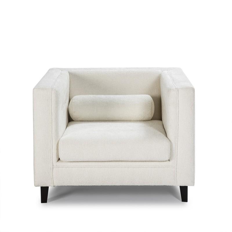 Fauteuil 102x95x70 cm tissu Blanc - image 52209