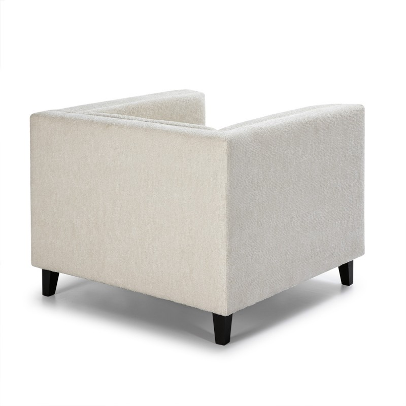 Fauteuil 102x95x70 cm tissu Blanc - image 52210