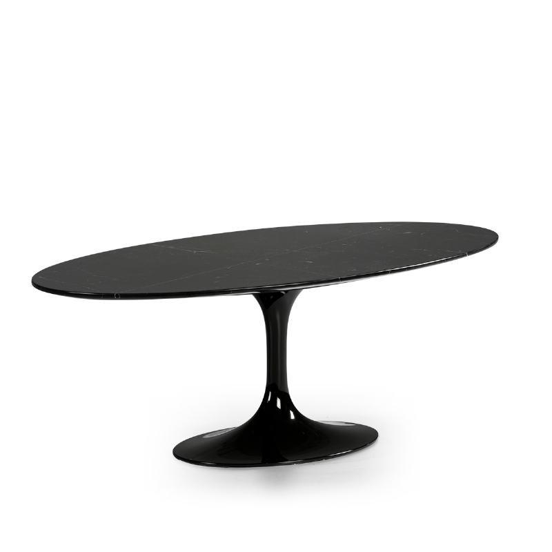 Table basse 120x60x42 cm Marbre Noir Fibre de verre Noir