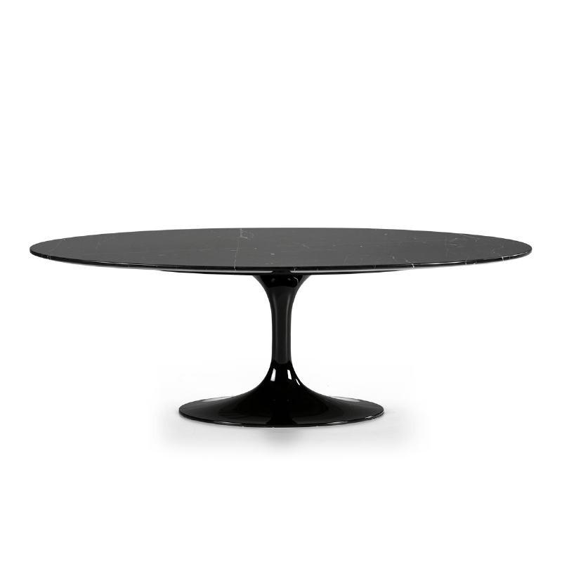 Table basse 120x60x42 cm Marbre Noir Fibre de verre Noir - image 52223