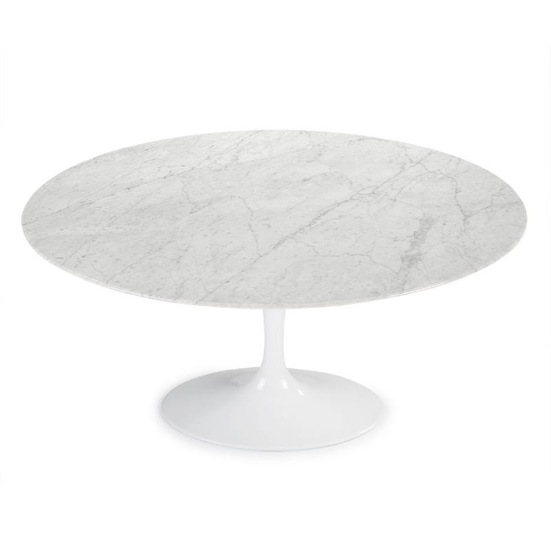 Mesa Comedor 150X120X73 Mármol Blanco Aluminio Blanco - image 52227