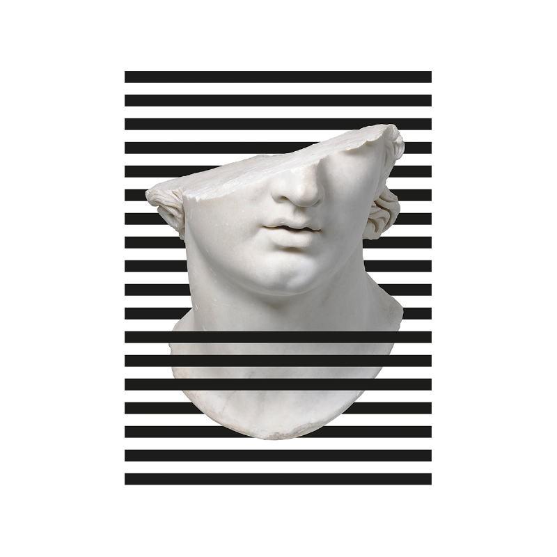 Bild 60X3X80 Methacrylat Weiß / Schwarz