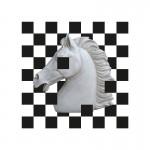 Tableau 70x3x70 Méthacrylate Blanc Noir