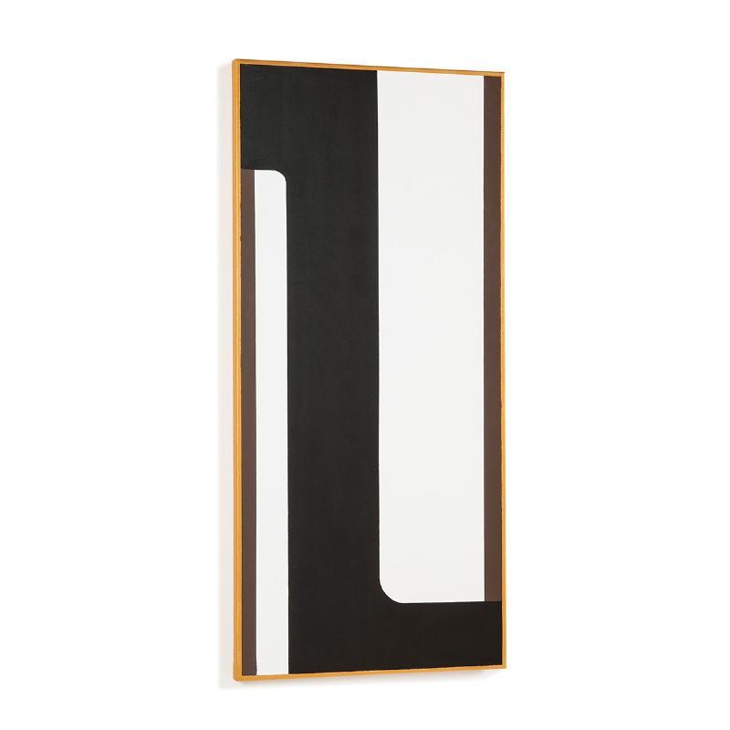 Toile 60x4x130 Blanc Noir Doré Modèle 3