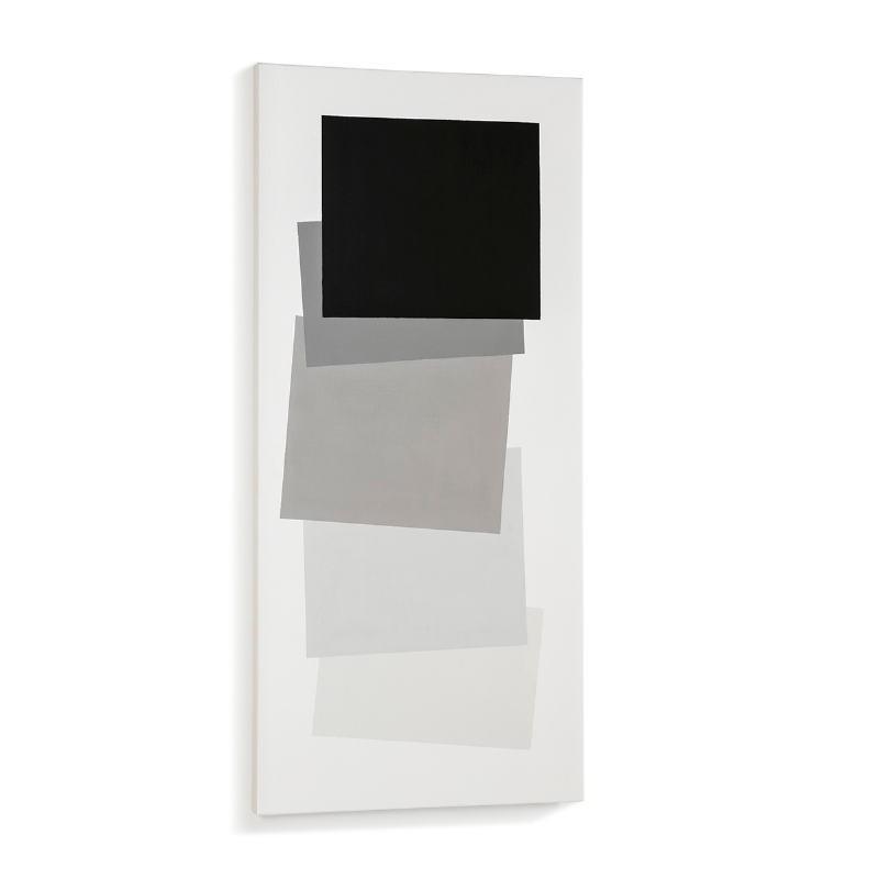 Der Malerei 60X4X130 Weiß/Schwarz