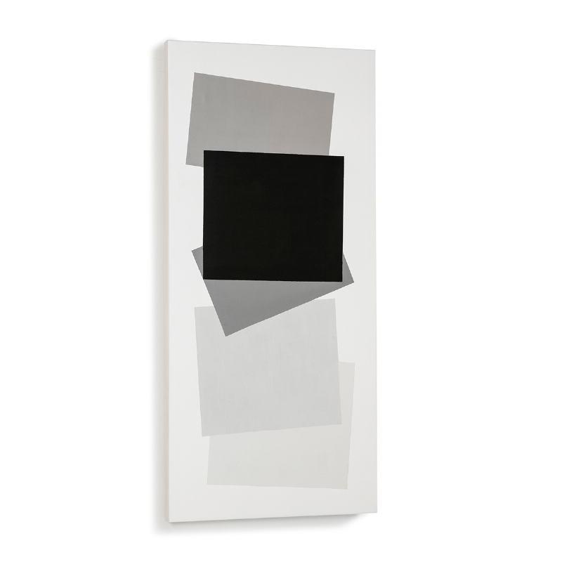 Toile 60x4x130 Blanc Noir Modèle 2