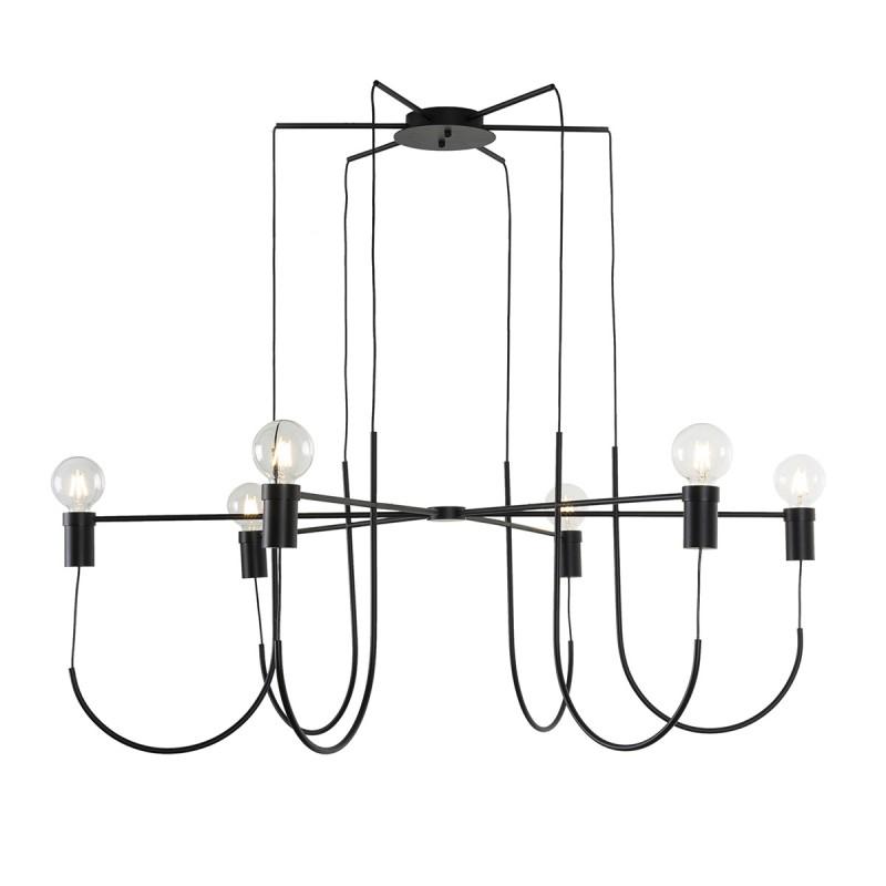Lámpara Colgante 119X119X45 Metal Negro