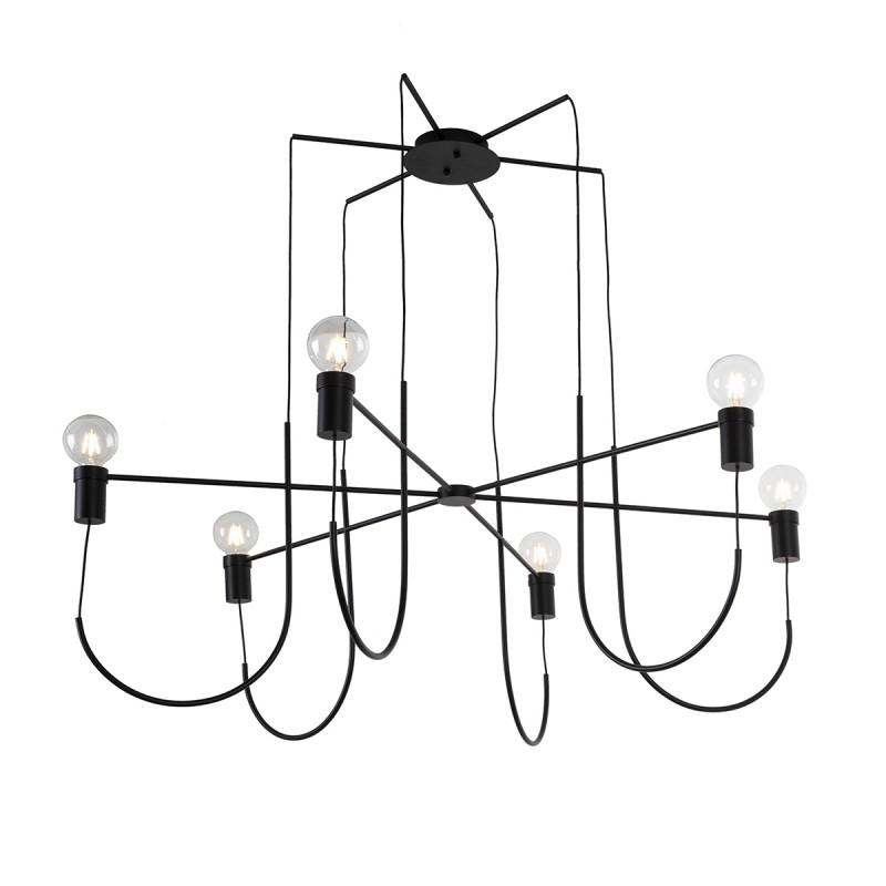 Lampe suspendue 119x119x45 Métal Noir - image 52322