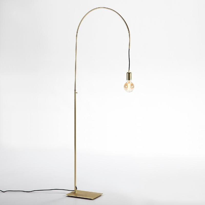 Lampada A Stelo 71X20X175 Metallo Dorato - image 52418