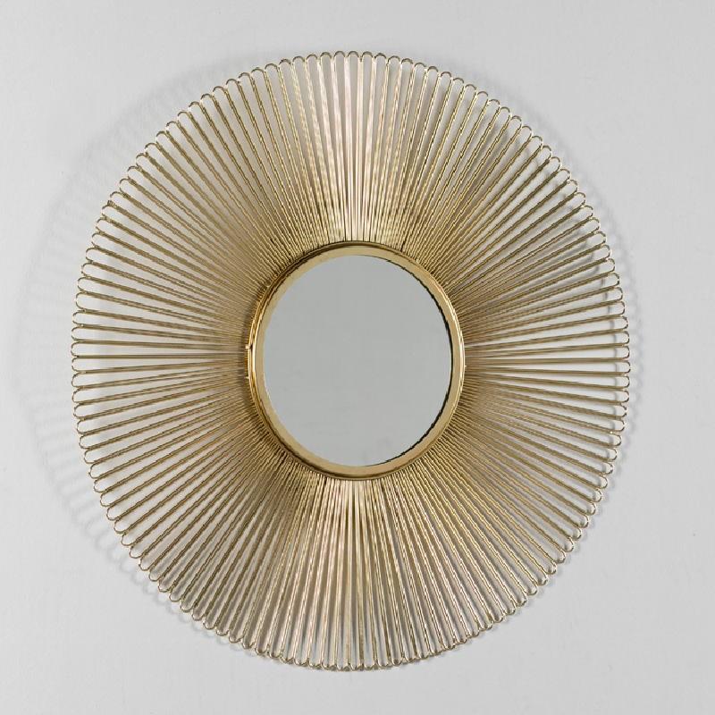 Miroir 81x2 Métal Doré