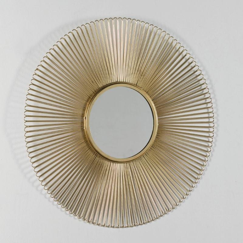 Miroir 81x2 Métal Doré - image 52428