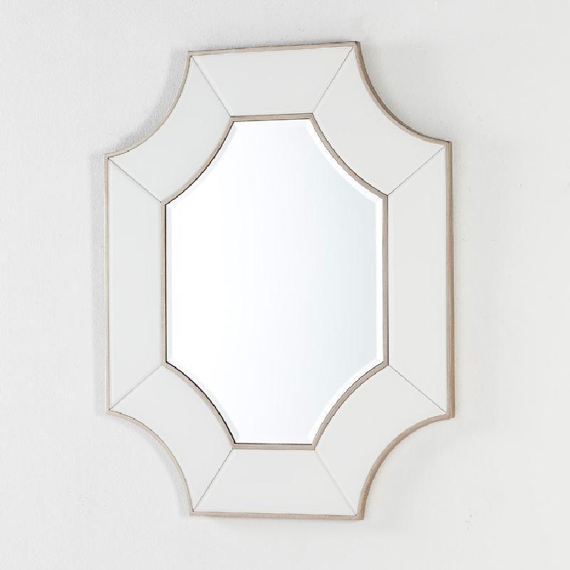 Spiegel 85X3X100 Glas Transparent/Weiß