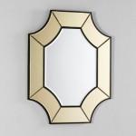 Espejo 85X3X100 Cristal Transparente Oro