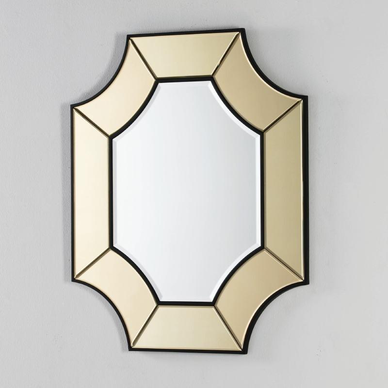 Spiegel 85X3X100 Glas Transparent/Gold - image 52441