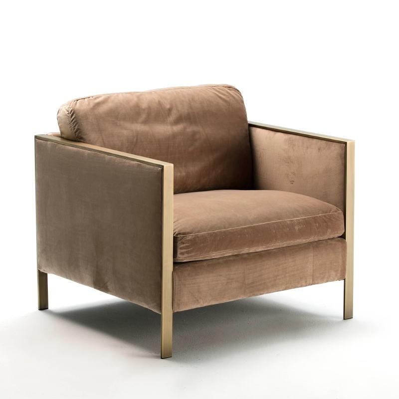 Sessel 80X78X80 Metall/Stoff Brown