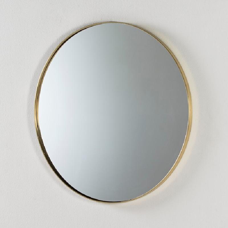 Miroir 80x5 Métal Doré
