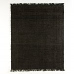 Tapis rectangulaire 200x1x250 Jute Noir