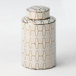Tibor 18X18X31 Keramik Weiß/Golden