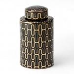 Tibor 18X18X31 Keramik Schwarz/Golden
