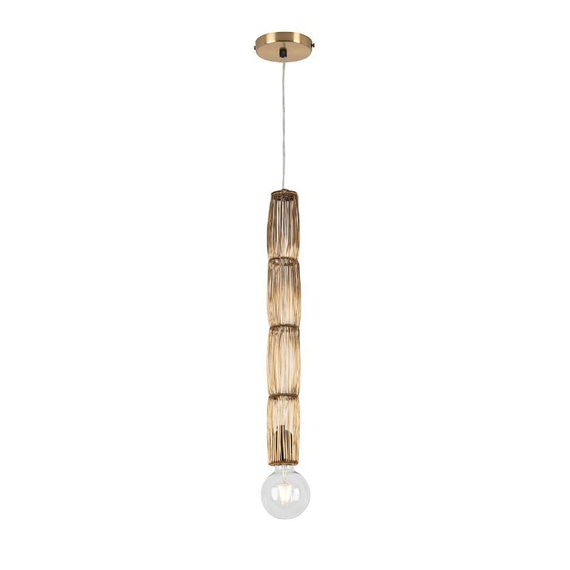 Hanging Lamp 6X6X55 Wire Golden