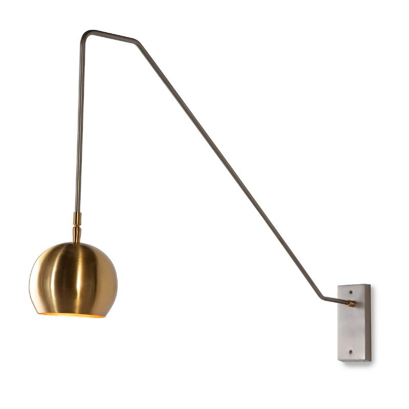 Wall Lamp 89X13X48 Metal Golden Grey