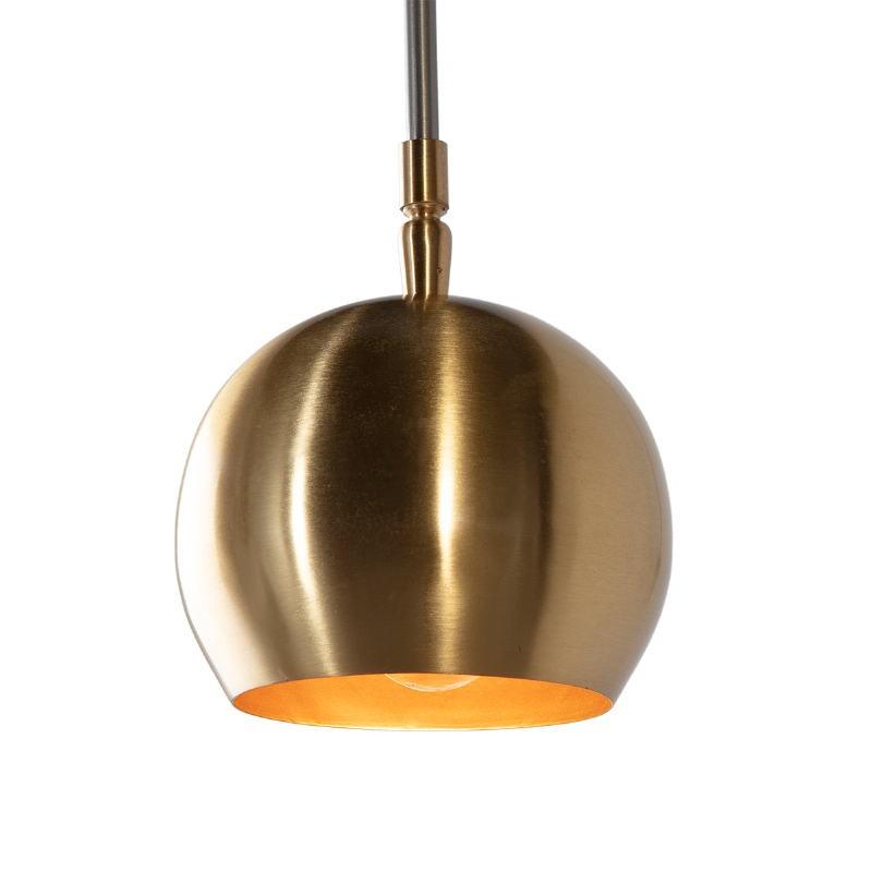 Wall Lamp 89X13X48 Metal Golden Grey - image 52563