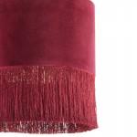 Lámpara Colgante Con Pantalla 40X40X43 Terciopelo Rojo
