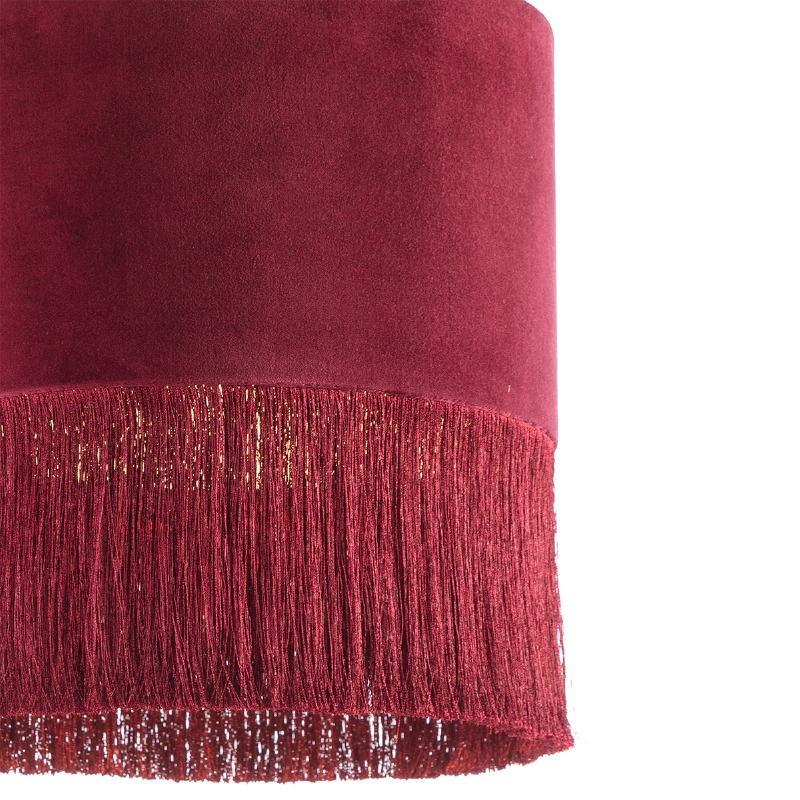 Lampe suspendue avec abat-jour 40x40x43 Velours Rouge - image 52572