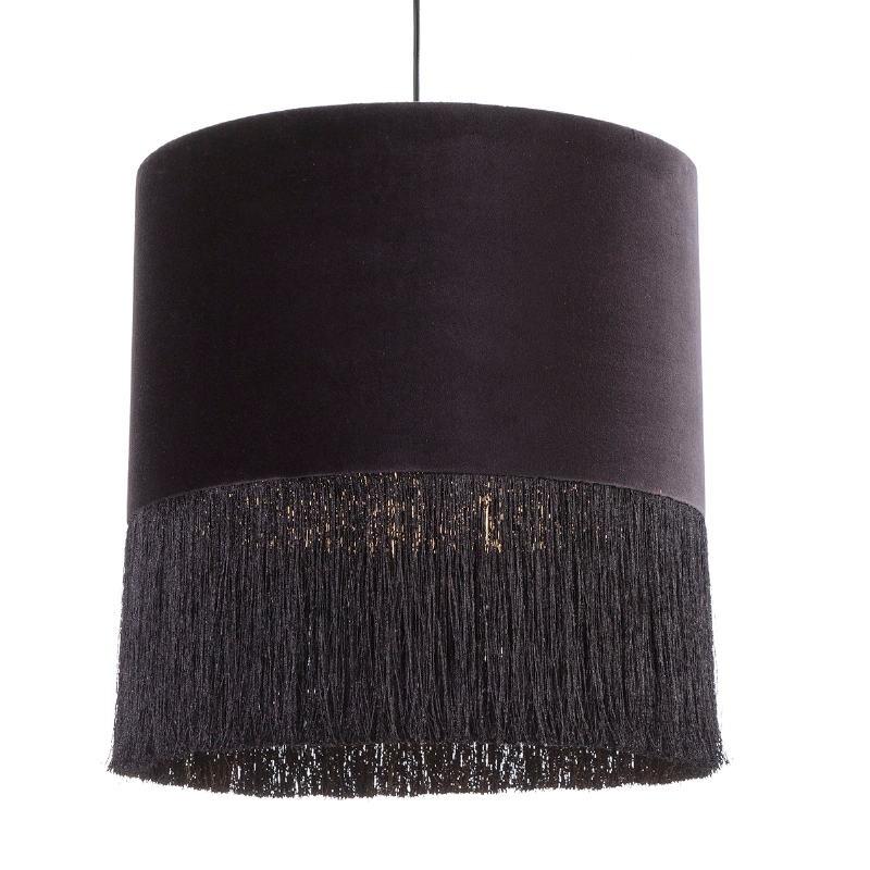Lámpara Colgante Con Pantalla 40X40X43 Terciopelo Negro - image 52576