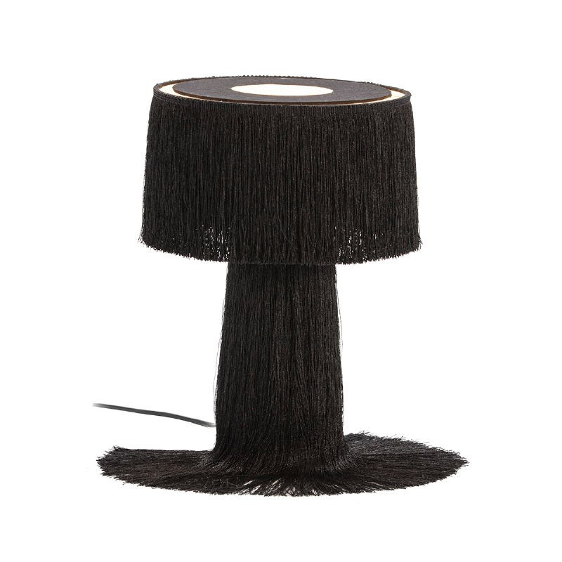Table Lamp With Lampshade 25X25X38 Fabric Black